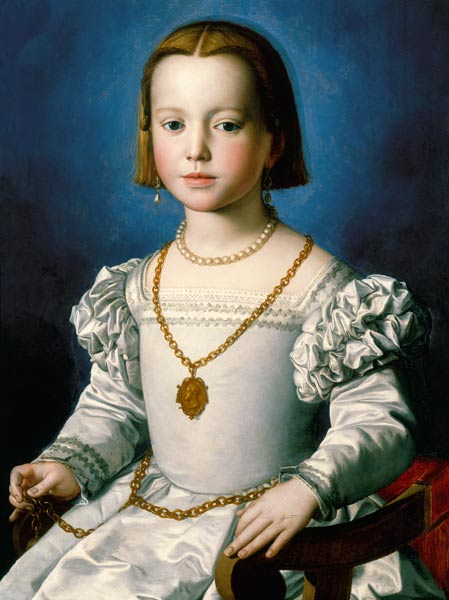 Agnolo Bronzino, ritratto di Bia de' Medici