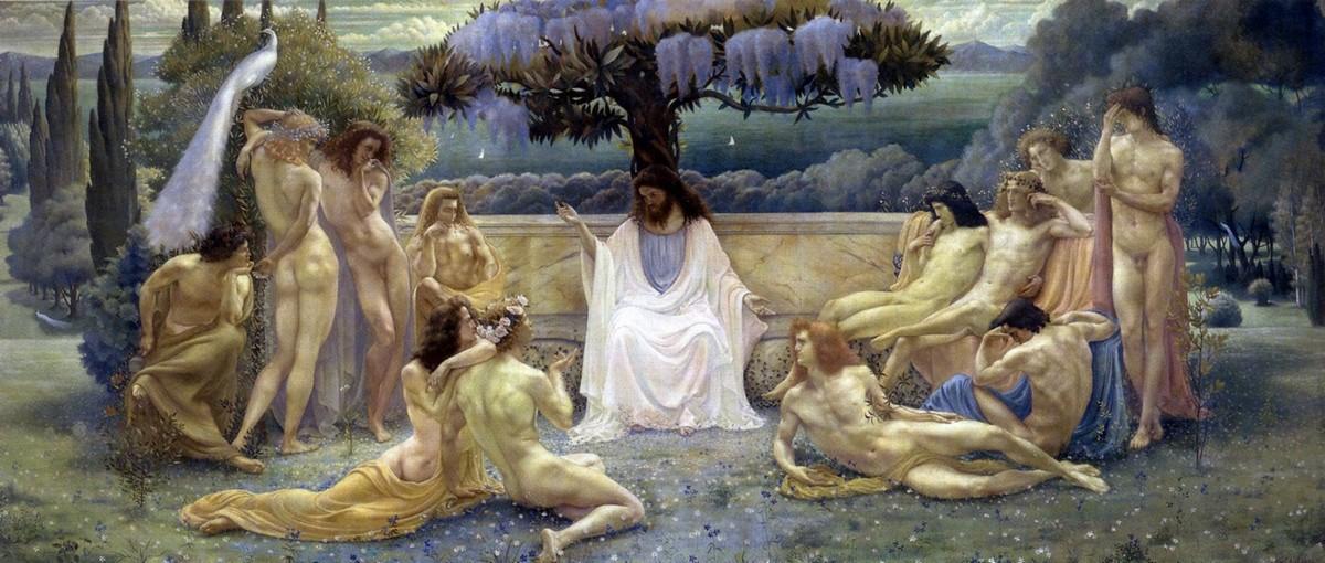 Jean Delville, Scuola di Platone