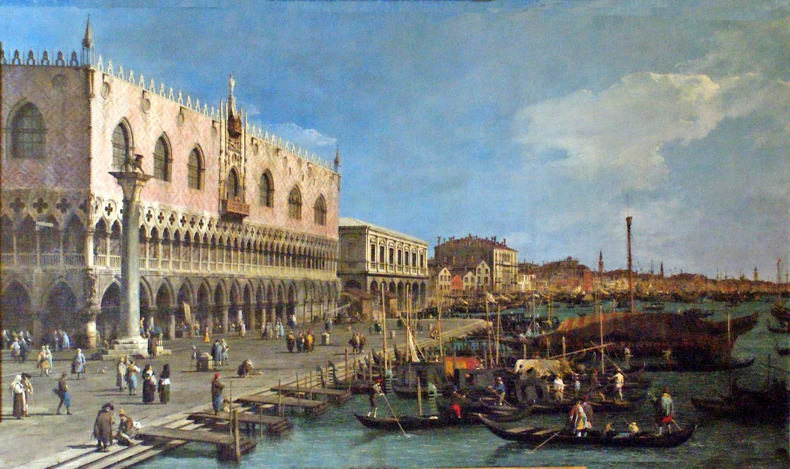 Canaletto, riva degli Schiavoni vista verso est