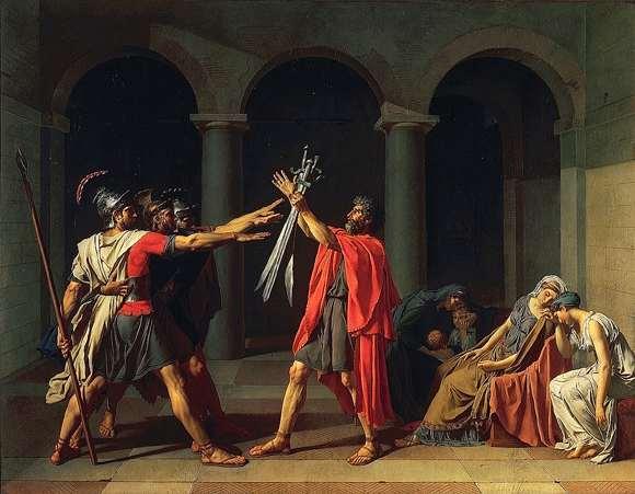 Il giuramento degli Orazi, Jacques-Louis David
