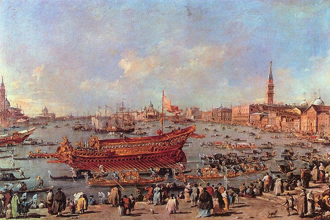 Francesco Guardi, veduta di Venezia nel giorno dell'Ascensione