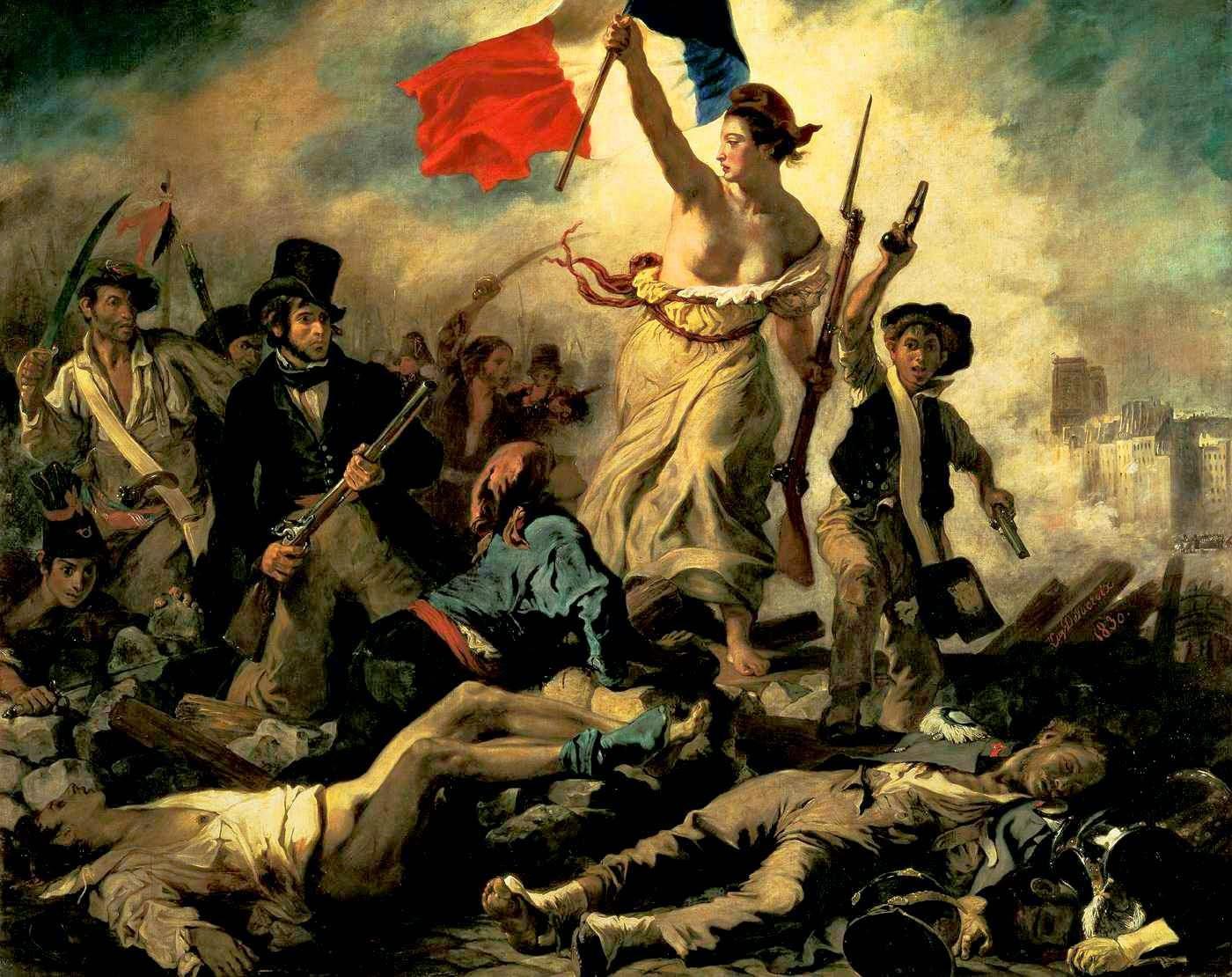 La libertà guida il popolo, Eugene Delacroix