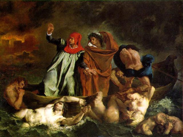 Eugene Delacroix, la barca di Dante