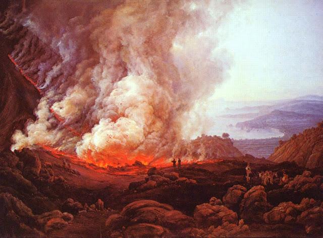 Johan Christian Clausen Dahl, l'eruzione del Vesuvio