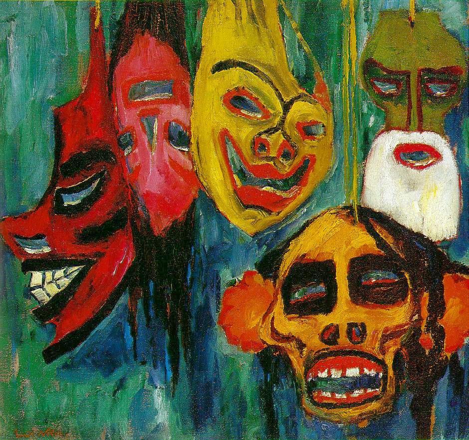 Emil Nolde, natura morta con maschere