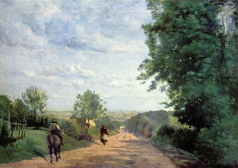 Camille Corot, il cammino di Sevre. Vista di Parigi