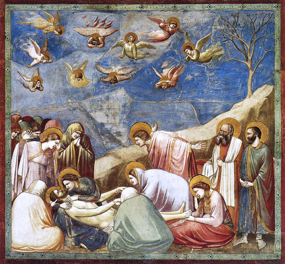 Giotto, compianto su Cristo morto,Cappella degli Scrovegni, Padova,1303-1305 circa
