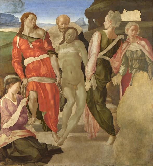 Deposizione di Cristo nel sepolcro, Michelangelo