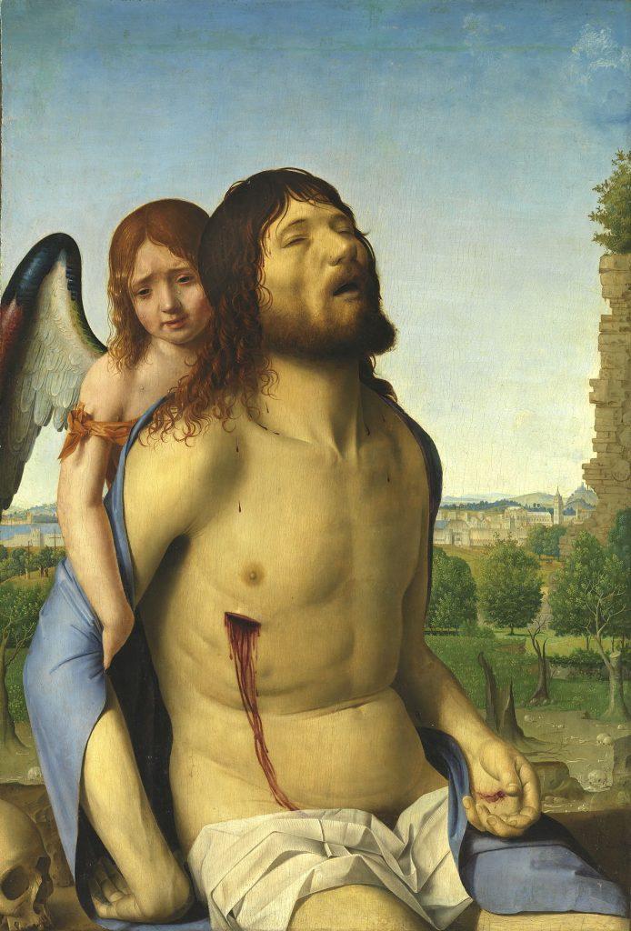 Cristo in pietà e un angelo, Antonello da Messina