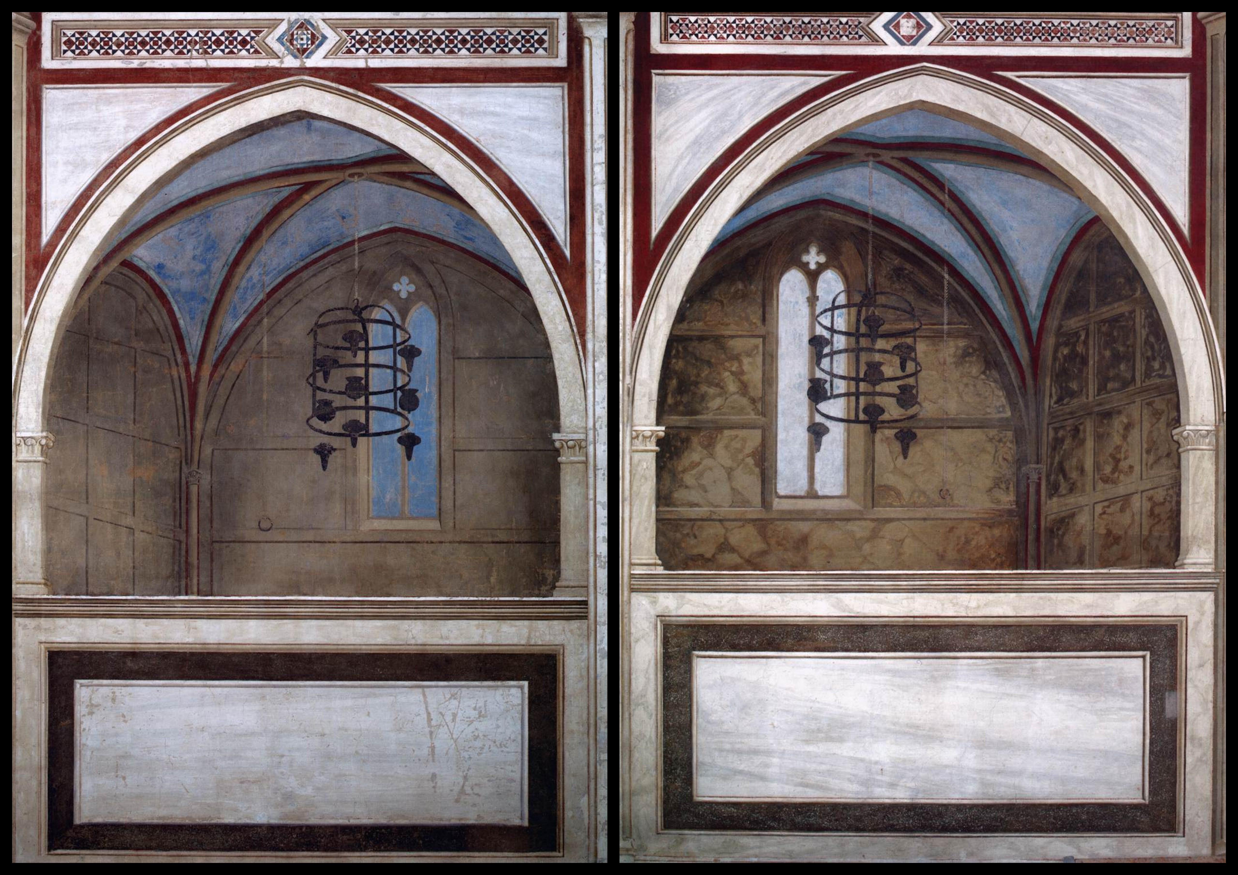 I due coretti dipinti nella cappella degli Scrovegni