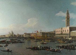 Canaletto, La partenza del Bucintoro dal molo nel giorno dell'Ascensione, 1740 circa