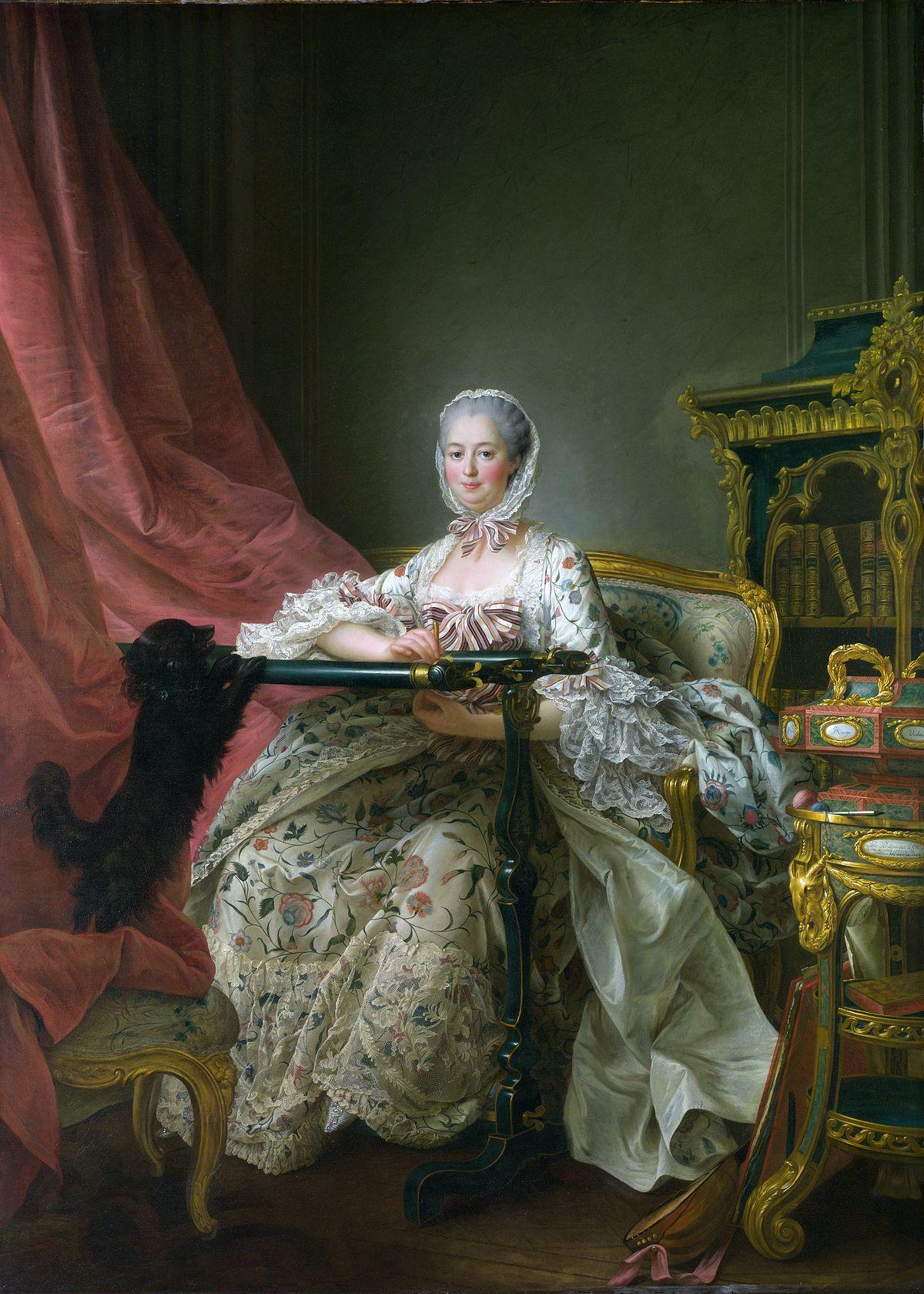 Madame de Pompadour al suo telaio da ricamo, François-Hubert Drouais