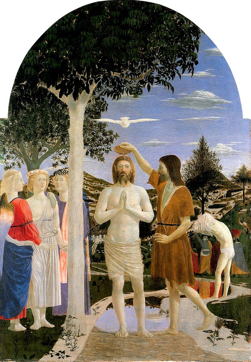 Battesimo di Cristo, Piero della Francesca