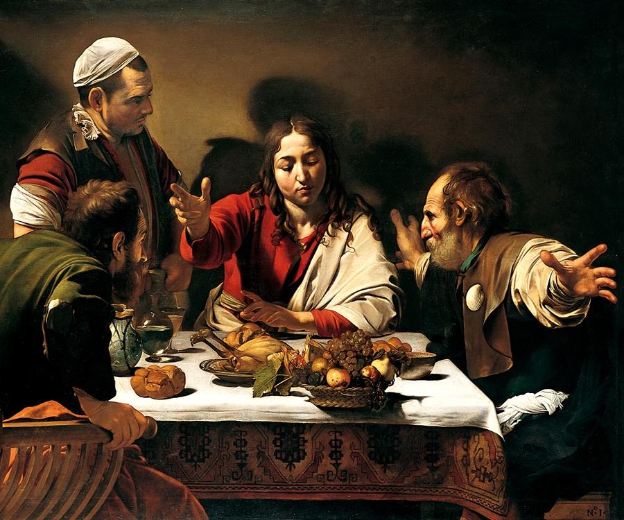 Cena in Emmaus, Caravaggio
