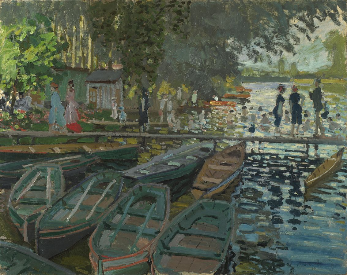 Bagnanti alla Grenouillère, Claude Monet