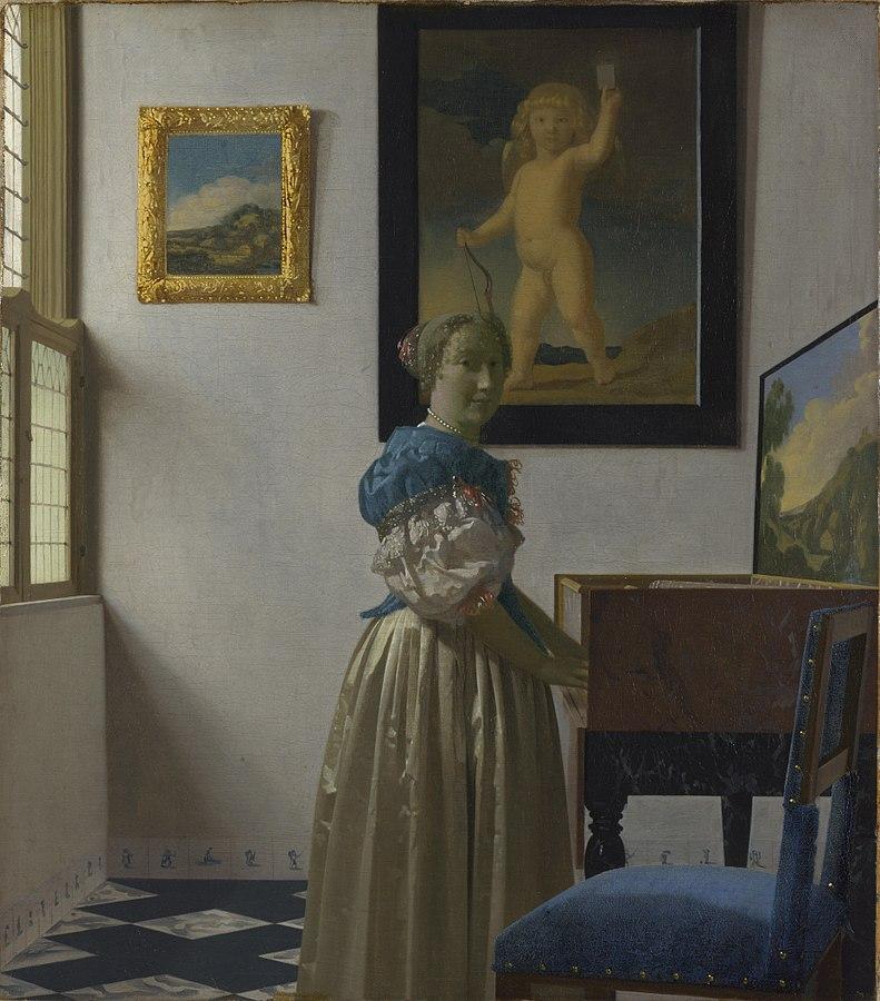 Donna in piedi alla spinetta, Jan Vermeer