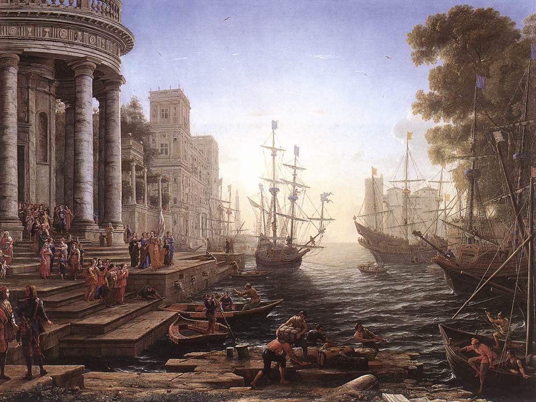 Porto marino con l'imbarco di sant'Orsola, Claude Lorrain