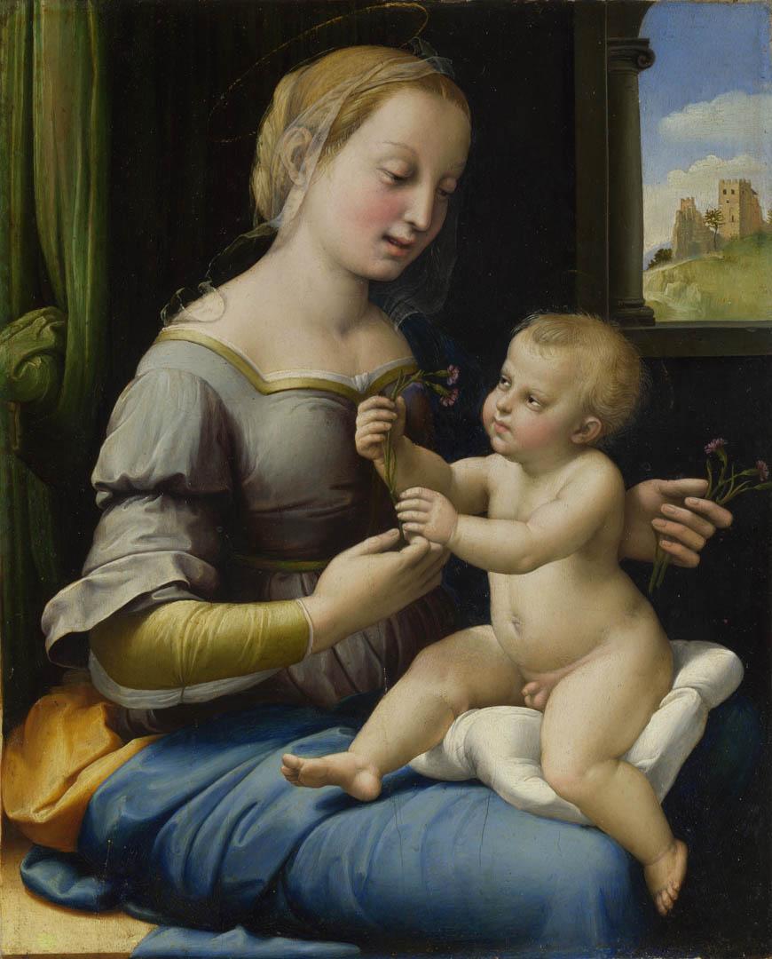 Madonna dei Garofani, Raffaello