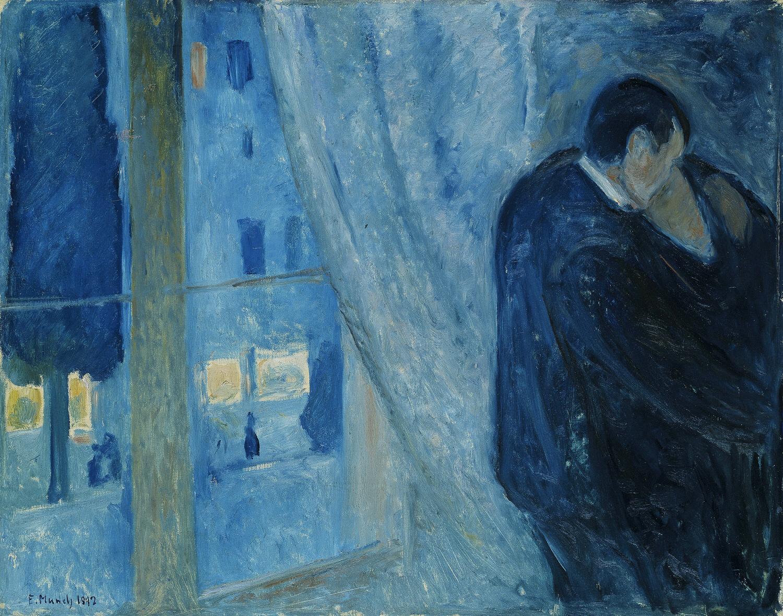 Il bacio con la finestra, Edvard Munch