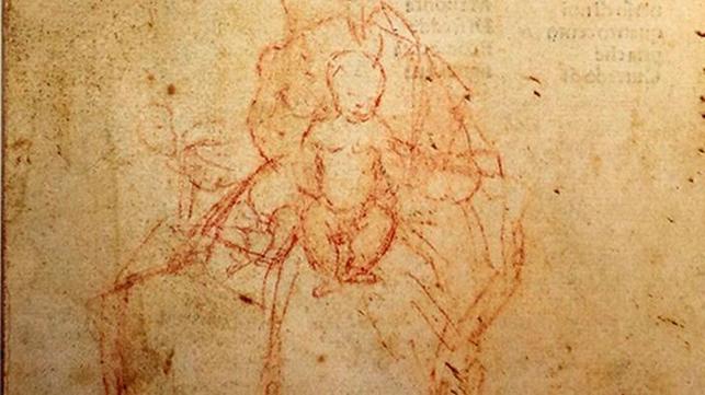 Giorgione. Madonna con bambino, disegno a matita rossa