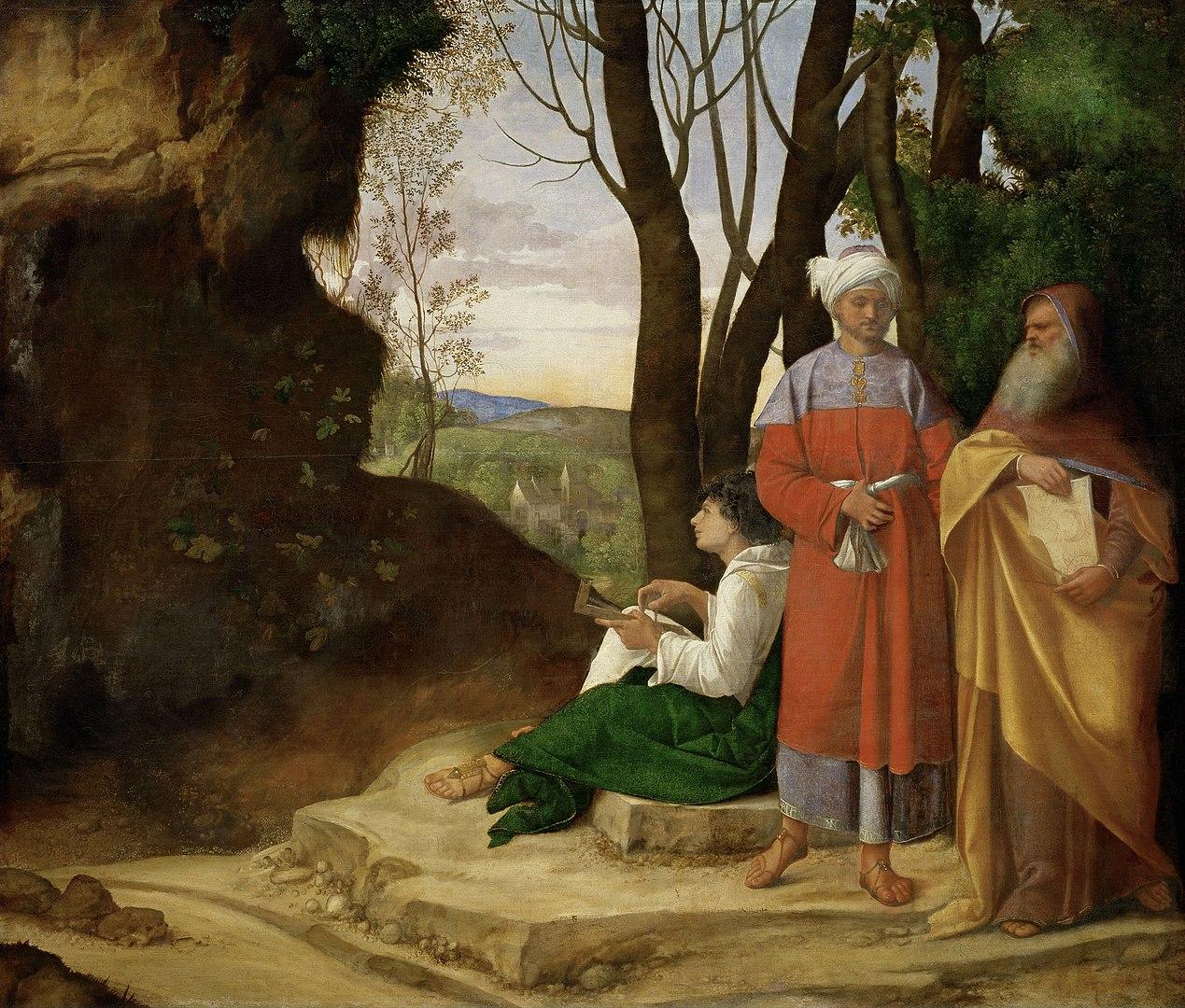 Giorgione, i tre filosofi