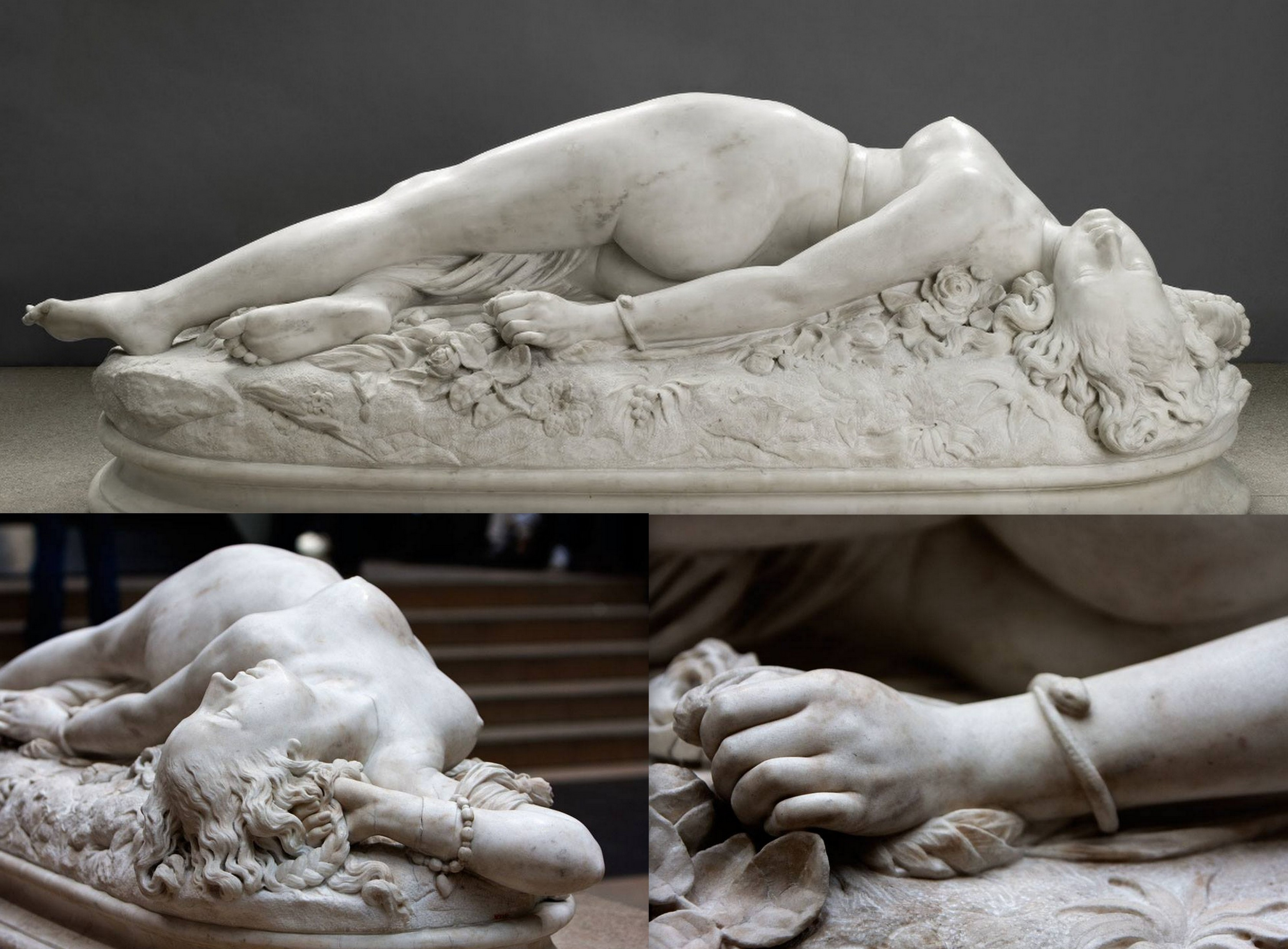 Auguste Clésinger, donna morsa da un serpente