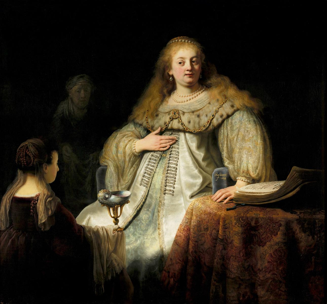 Rembrandt, Giuditta al banchetto di Oloferne