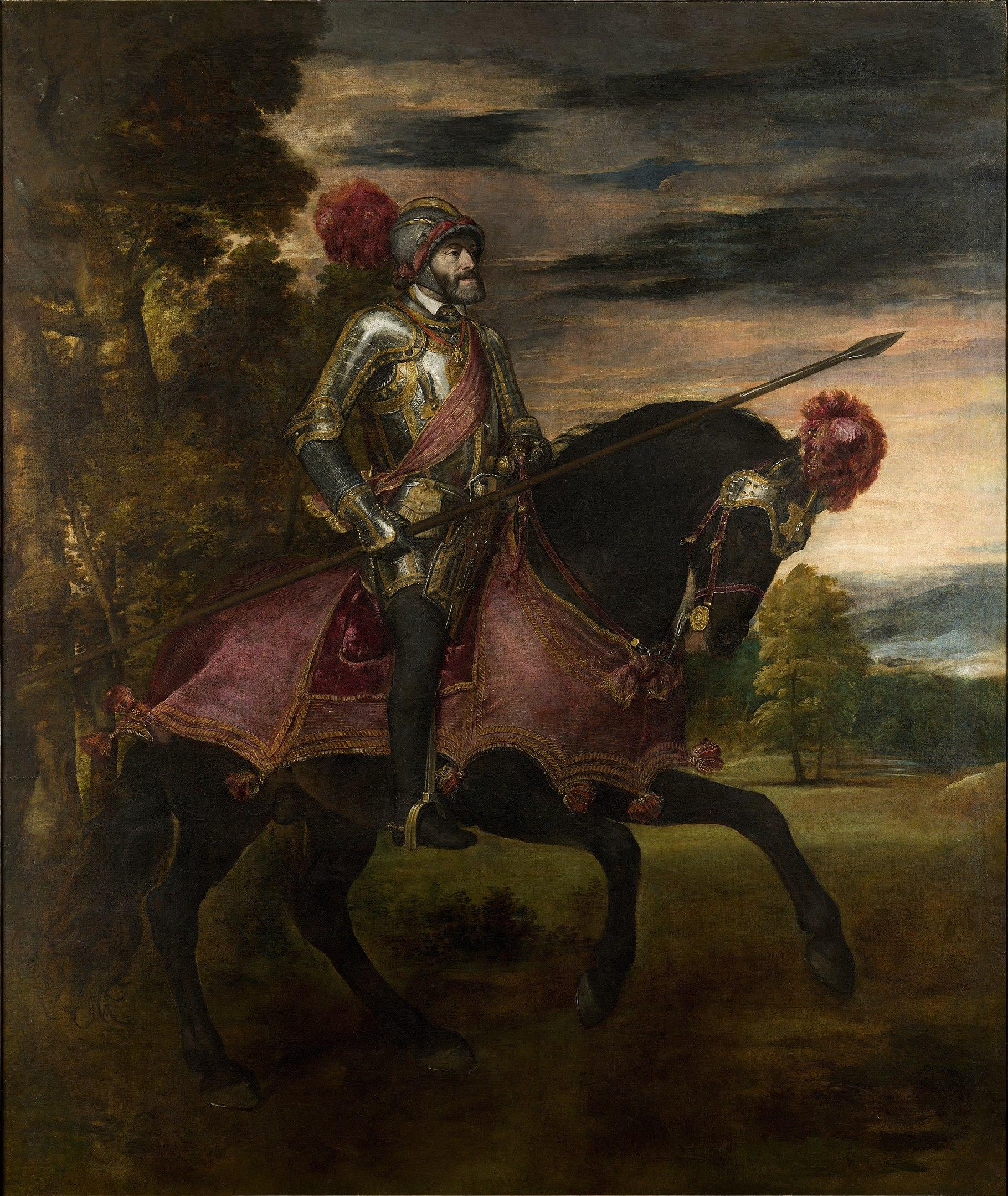 Tiziano, l'imperatore Carlo V a Mühlberg