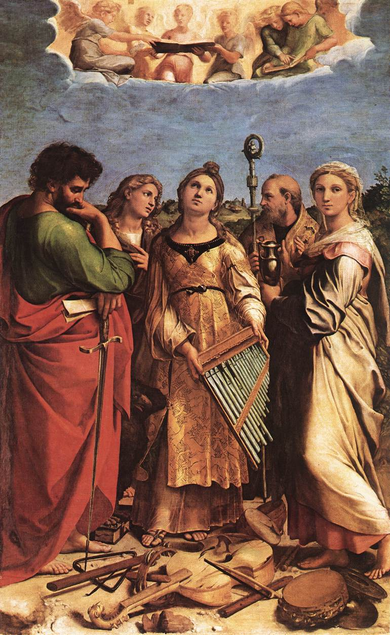 Raffaello, estasi di santa Cecilia