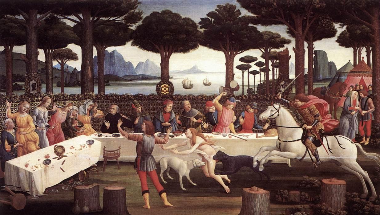 Sandro Botticelli, Nastagio degli Onesti, parte III