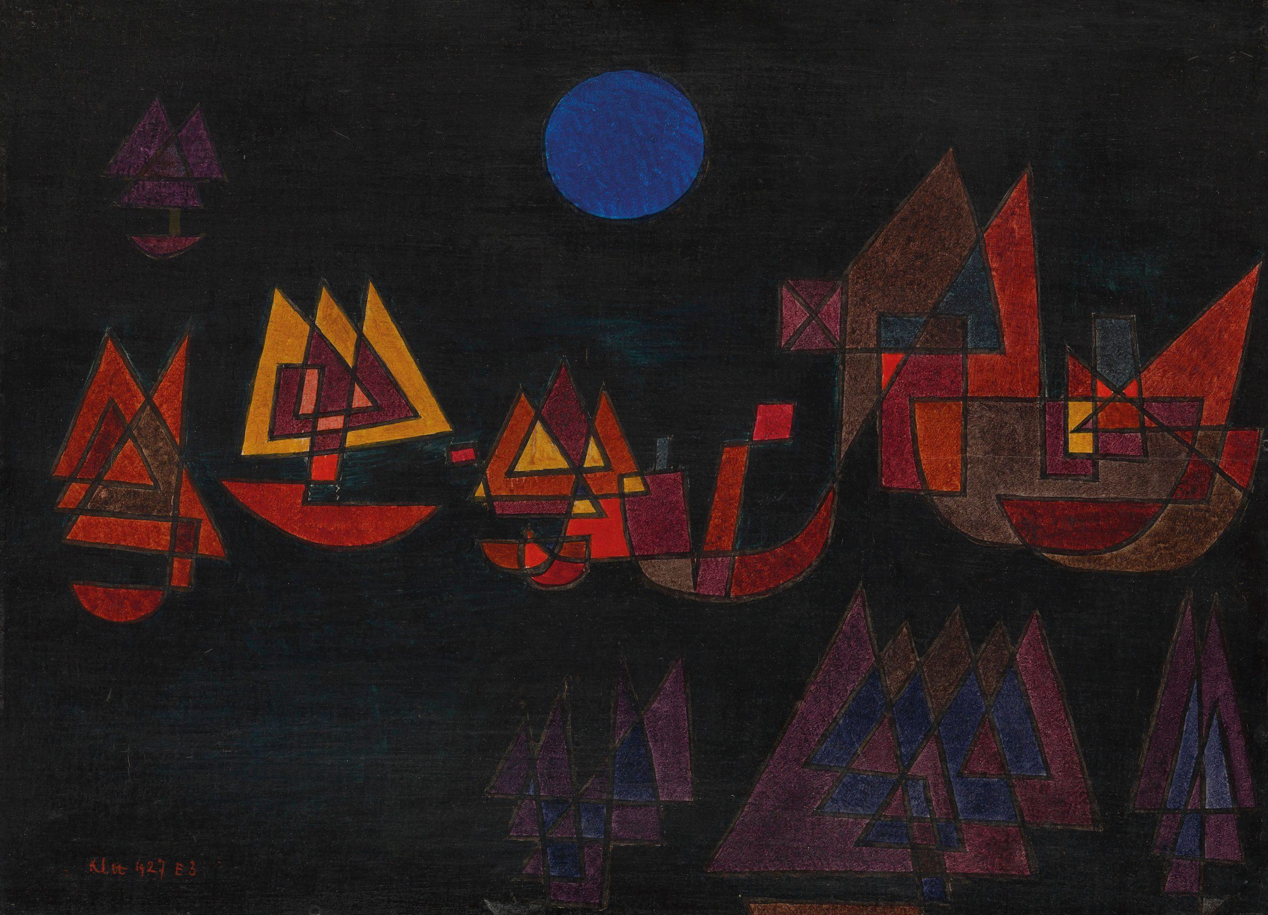 Paul Klee, Navi nel buio