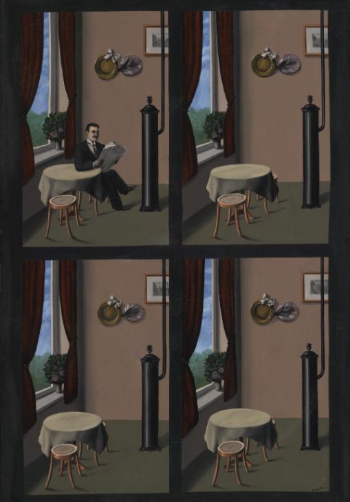 René Magritte, Uomo con giornale