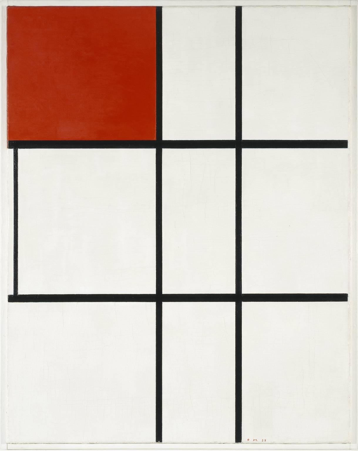 Piet Mondrian, Composizione B (No.II) con rosso