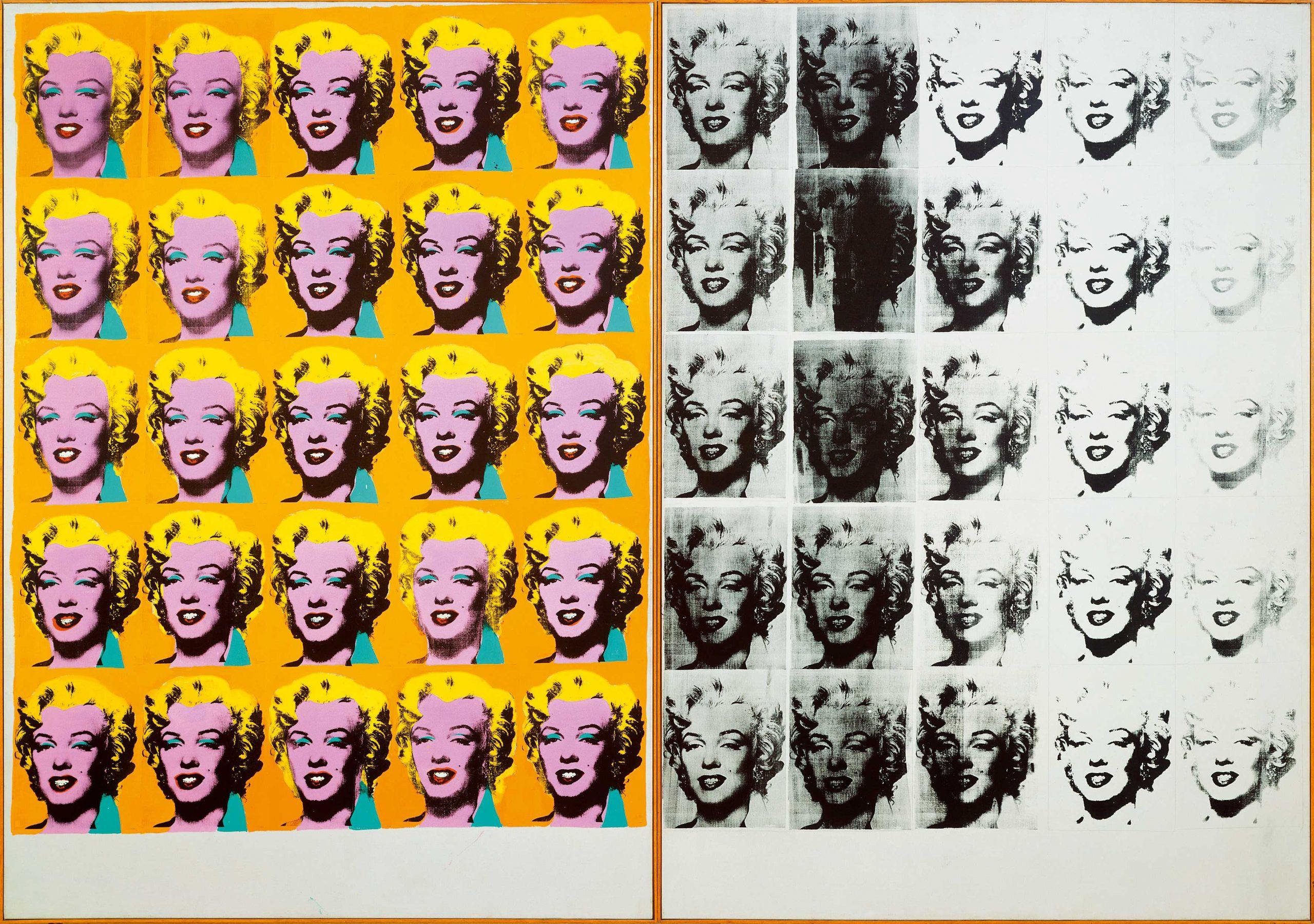 Andy Warhol, Dittico Marilyn