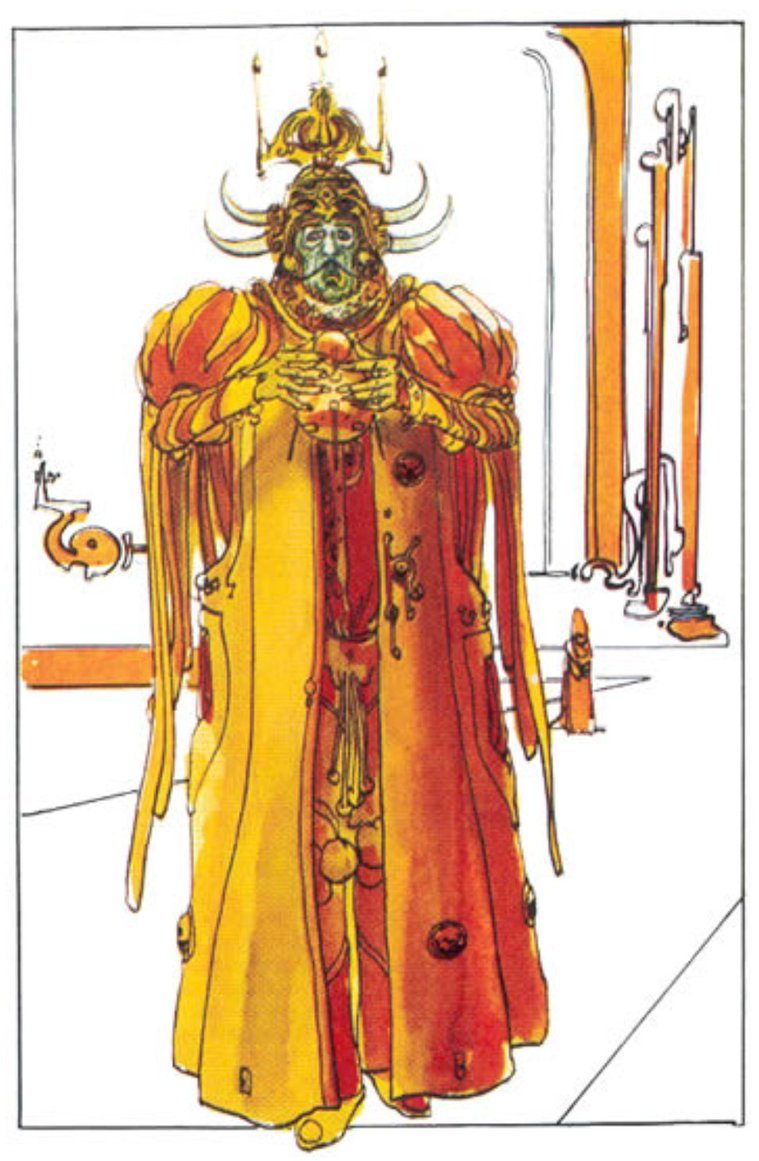 Dalì come imperatore Padisha in Dune
