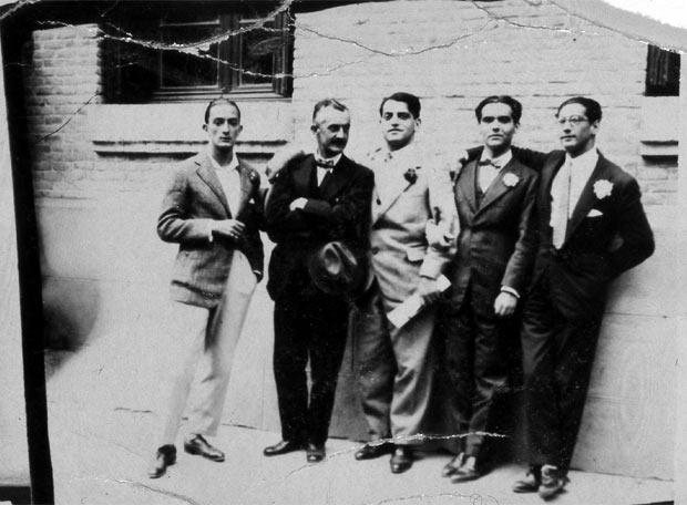 Dalí, Moreno Villa, Buñuel, García Lorca y Rubio Sacristán