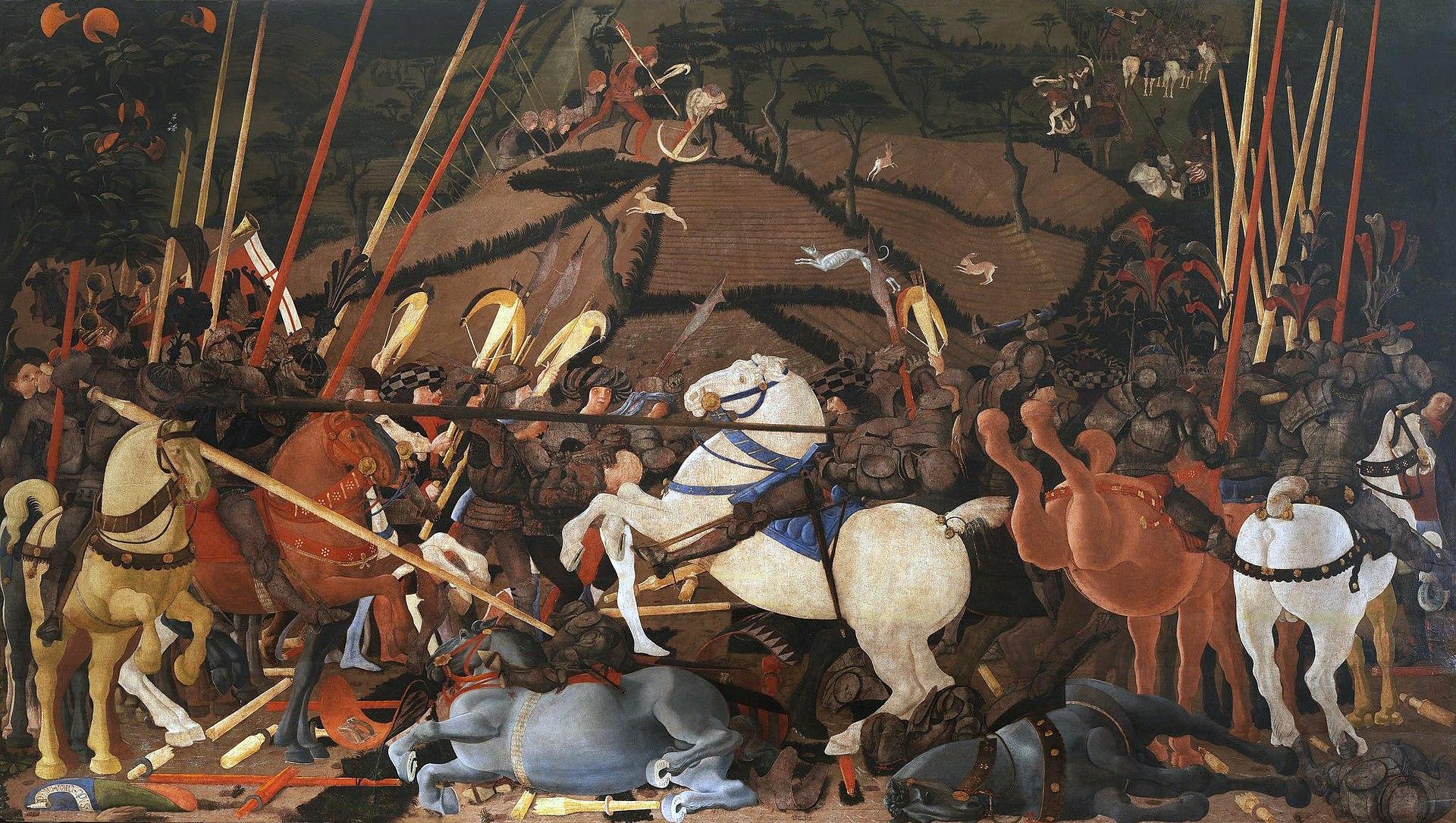 Battaglia di San Romano-la tavola degli Uffizi, Paolo Uccello