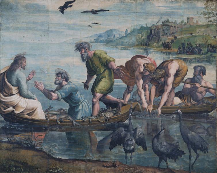 Raffaello, cartone della pesca miracolosa