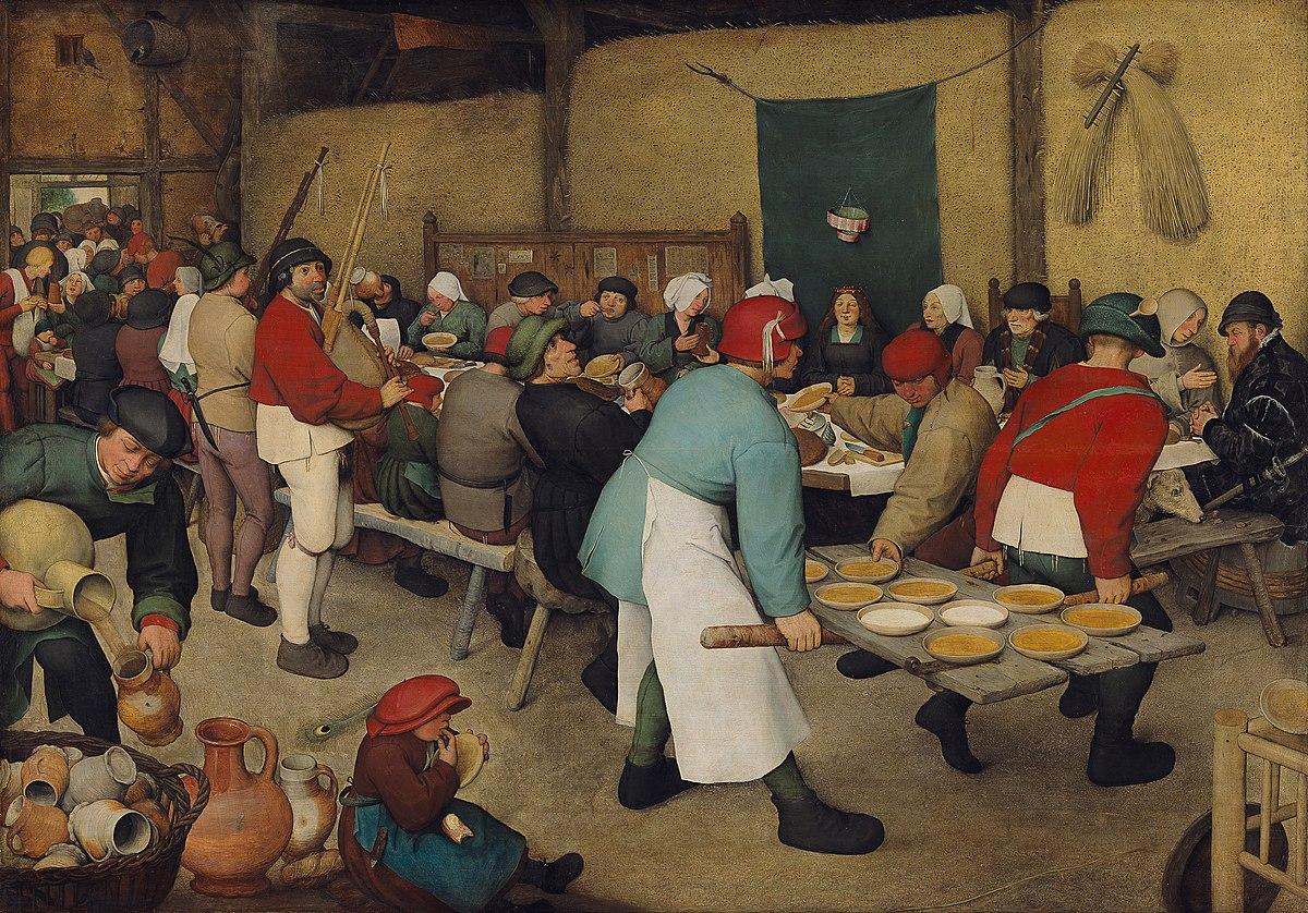 Pieter Bruegel il Vecchio, nozze contadine