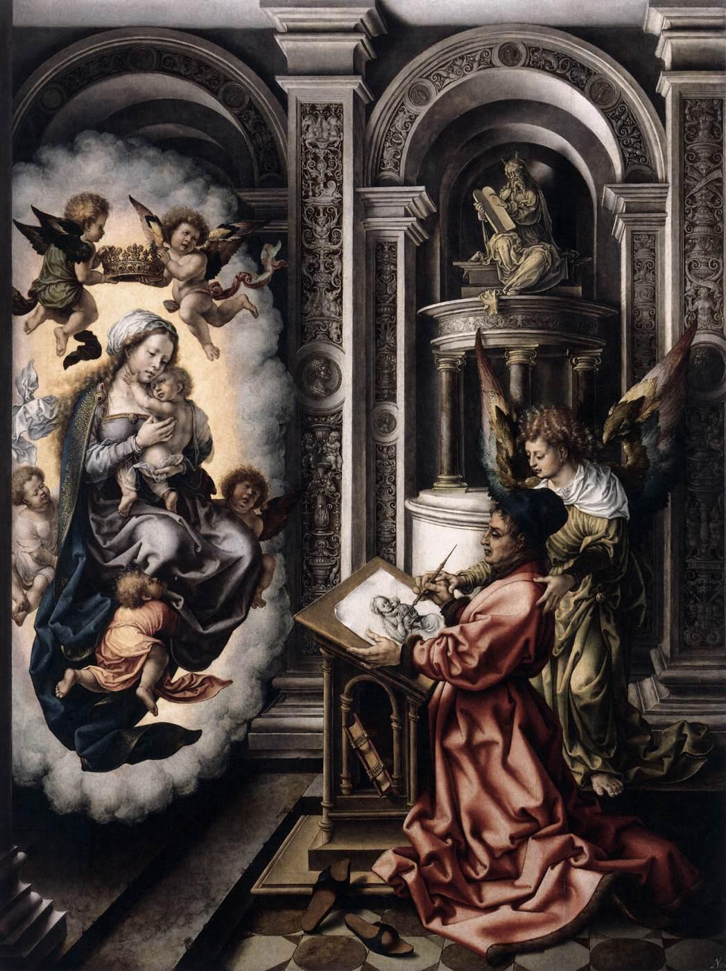 Mabuse, san Luca dipinge la Vergine
